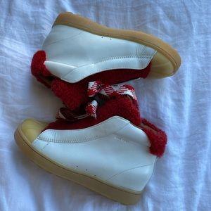 Coach Hi Top Shearling Hiker Sneaker